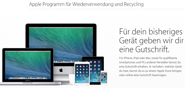 Apple Wiederverwertung