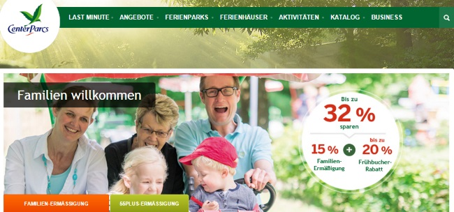 Center Parcs für Familien