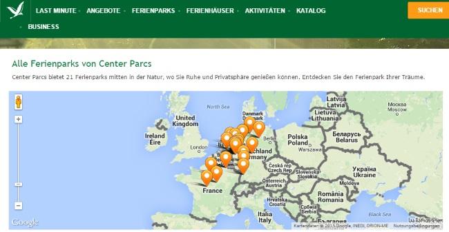 Center Park Standorte