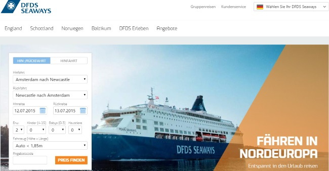 DFDS Onlineshop