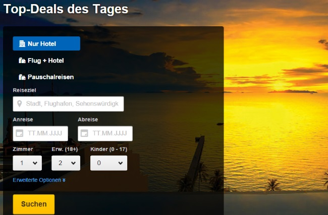 Expedia Top-Deal des Tages