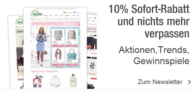 Kaufhof Newsletter