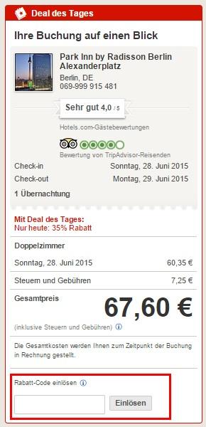 Gutscheincode Hotels Com