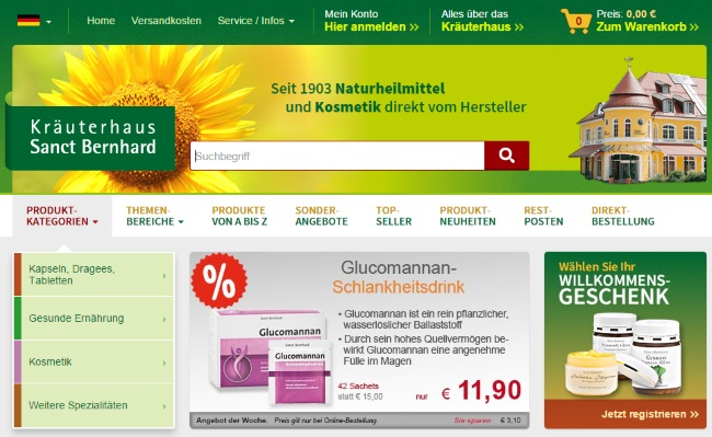 Kräuterhaus Sanct Bernhard Onlineshop