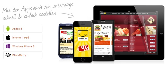 Pizza.de Apps