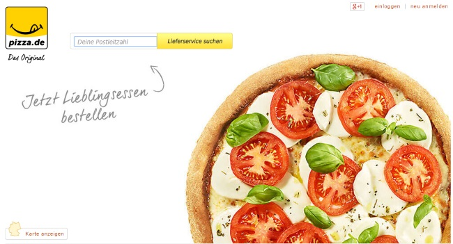 Pizza.de Onlineshop
