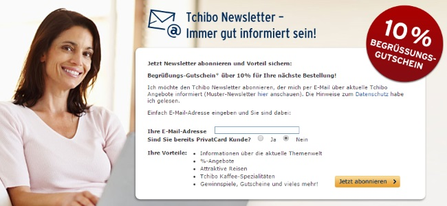 Tchibo Newsletter