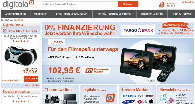 Digitalo Onlineshop