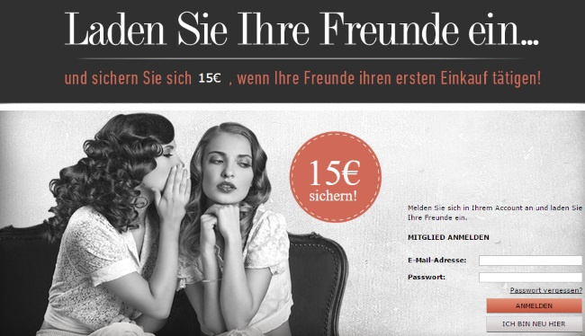 Dress for less Freundschaftswerbung
