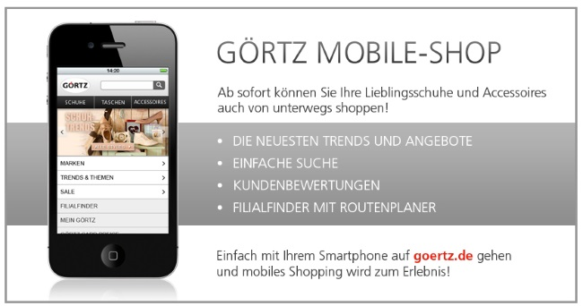 Görtz - mobiles Shopping