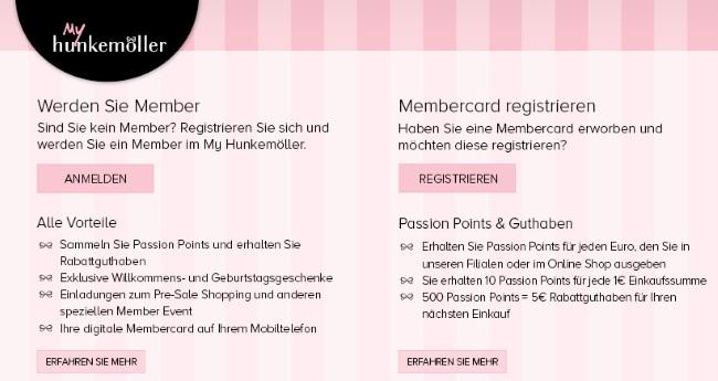 Hunkemöller Membercard