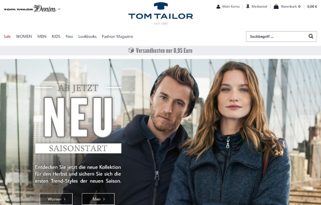 Tom Tailor Onlineshop