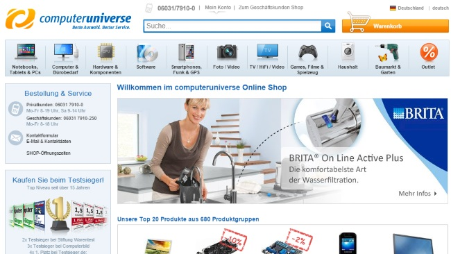 Computeruniverse Onlineshop