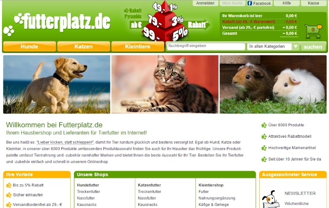 Futterplatz Onlineshop