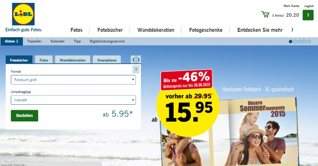 Lidl Fotos Onlineshop
