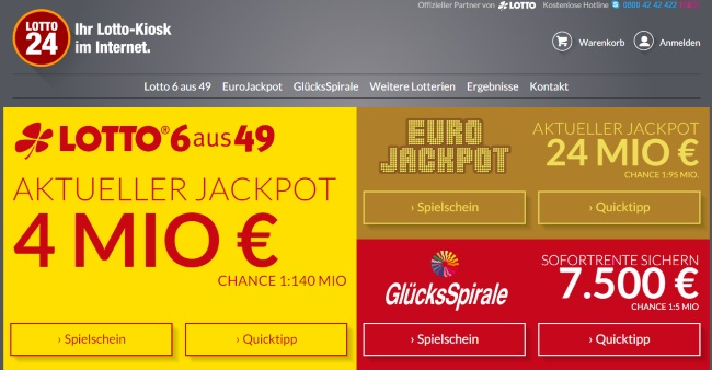 Lotto24 Onlineshop