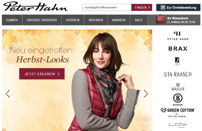 Peter Hahn Onlineshop