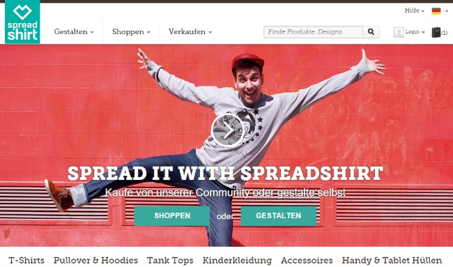 Spreadshirt Onlineshop