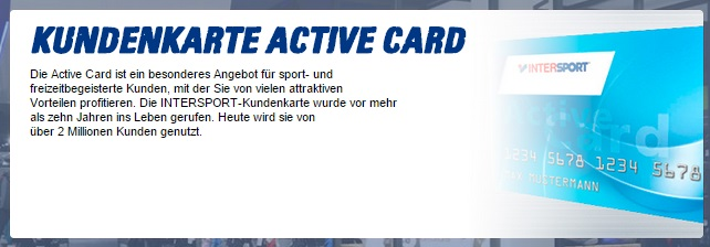 Intersport Kundenkarte