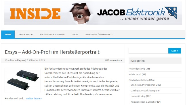 Jacob Elektronik Blog