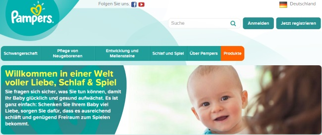 Pampers Onlineshop
