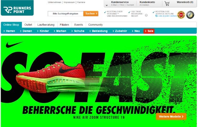 Runners Point Onlineshop