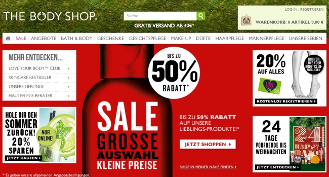 The Body Shop Onlineshop