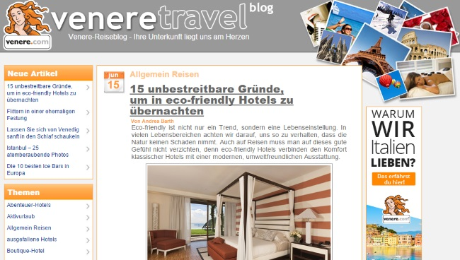 Venere Travel-Blog