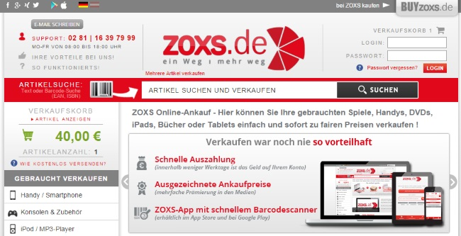 ZOXS Onlineshop