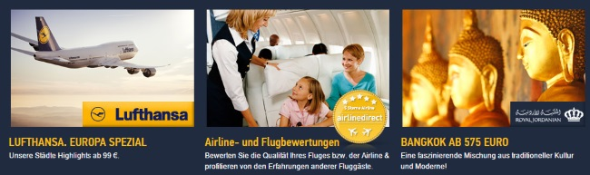 airline direct Sonderangebote