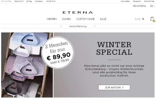 Eterna Onlineshop