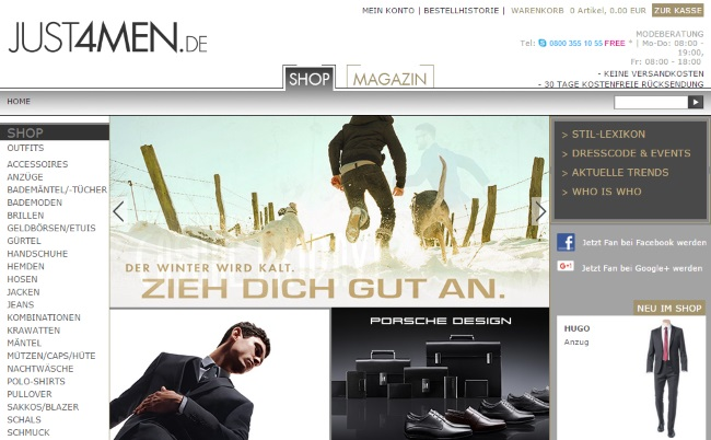 Just4Men Onlineshop