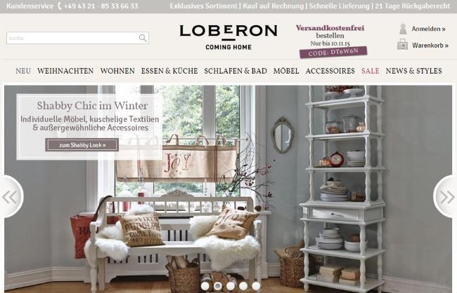 loberon gutschein oktober 2018 23 gutscheincodes. Black Bedroom Furniture Sets. Home Design Ideas