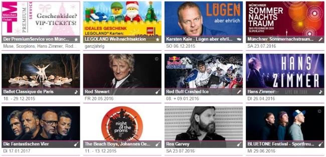München Ticket - Aktuelle Veranstaltungen