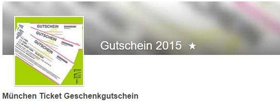 München Ticket Geschenkgutscheine
