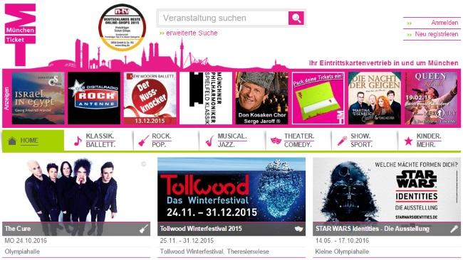 München Ticket Onlineshop