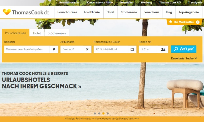 Thomas Cook Onlineshop
