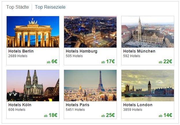 Trivago Top-Städte