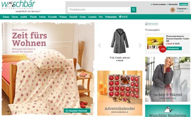 Waschbär Onlineshop