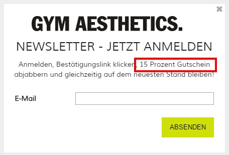 Gym Aesthetics Newsletter