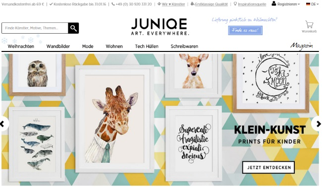 JUNIQE Onlineshop