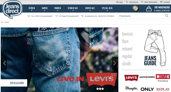 Jeans Direct Onlineshop