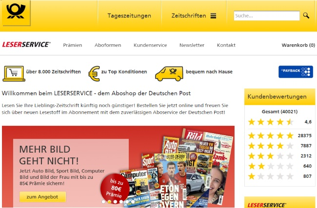Leserservice Onlineshop