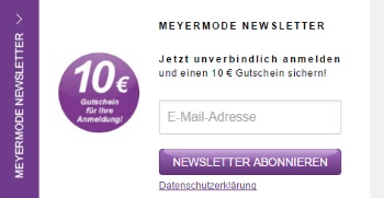 Meyer Mode Newsletter