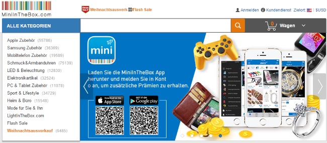 MiniInTheBox Onlineshop