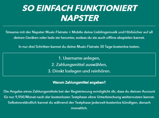 Napster - so funktionierts