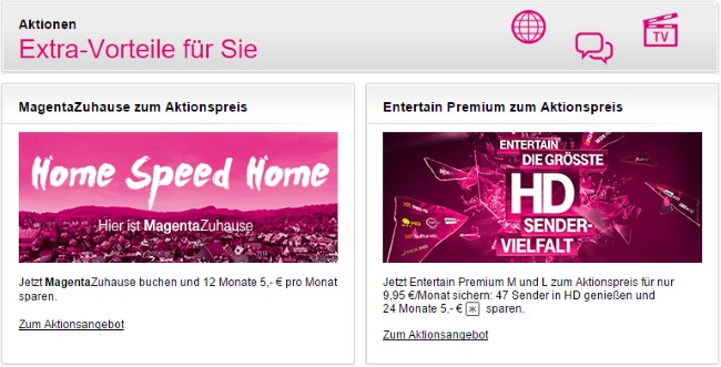 Telekom Aktionsangebote