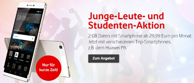 Vodafone Aktionsangebote Studenten