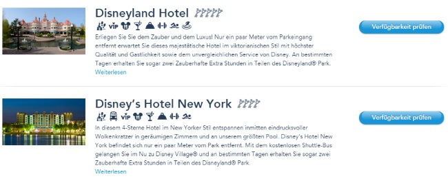 Disneyland Paris Hotel wählen