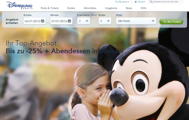 Disneyland Paris Onlineshop